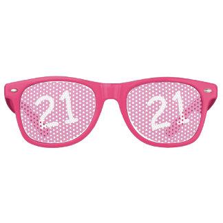 21 yr Bday Pink - 21st Birthday Wayfarer Sunglasses