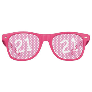 21 yr Bday Pink - 21st Birthday Retro Sunglasses