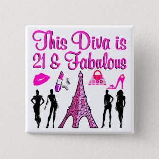21 YR OLD PARIS LOVER BUTTON