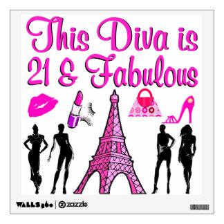 21 YR OLD PARIS LOVER WALL STICKER