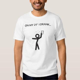 21ra camisa del cumpleaños de los hombres