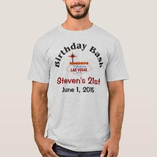 21ra camiseta del varón del cumpleaños de Las