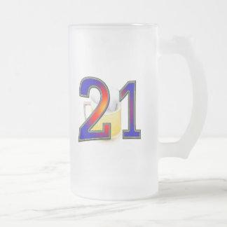 21ra cerveza del cumpleaños taza