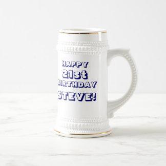 21ra cerveza feliz de encargo Stein del cumpleaños Taza De Café