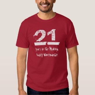 21ra ejecución divertida de la calidad del remeras
