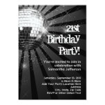 21ra fiesta de cumpleaños de la bola de discoteca anuncio personalizado