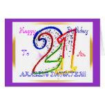 ¡21ra hija feliz del cumpleaños! felicitación