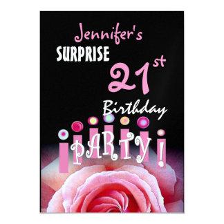 21ra invitación de la fiesta de cumpleaños de la