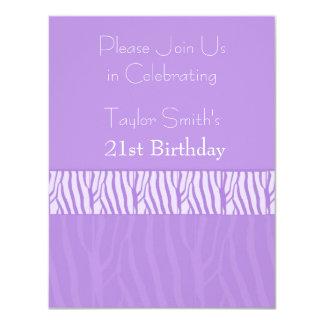21ra invitación del cumpleaños del estampado de