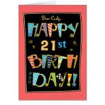 21ra tarjeta Cumpleaños-Divertida feliz caprichosa