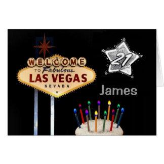 21ra tarjeta de cumpleaños de Las Vegas