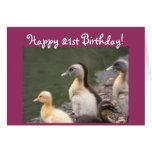 21ra tarjeta de felicitación feliz del anadón del
