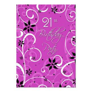 21ra tarjeta de la invitación de la fiesta de