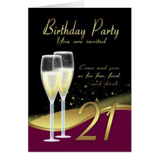 21ra tarjeta elegante de la invitación de la fiest