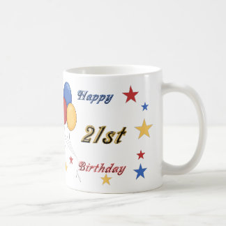 21ra taza feliz del cumpleaños