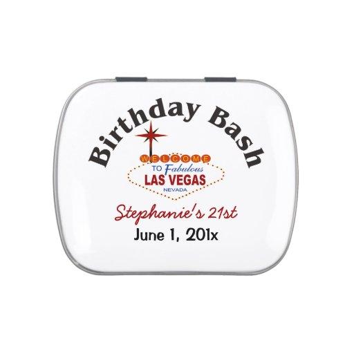 21ras latas del caramelo del golpe del cumpleaños  frascos de dulces
