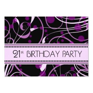 21ras tarjetas de la invitación de la fiesta de