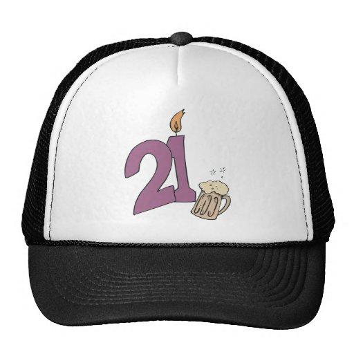 21ro Bebidas del cumpleaños Gorros Bordados