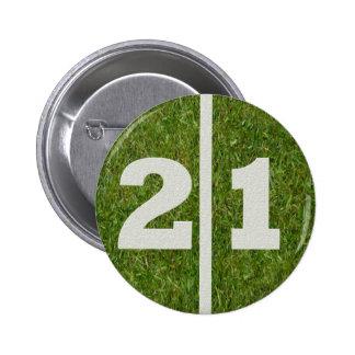 21ro Botón de la yarda del cumpleaños