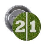 21ro Botón de la yarda del cumpleaños Pins