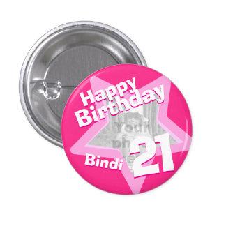 21ro Botón/insignia de las rosas fuertes de la div Pin Redondo 2,5 Cm