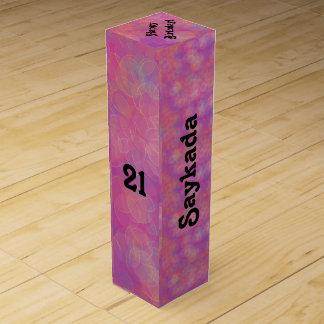 21ro Caja de regalo del vino de la celebración del Caja Para Botella De Vino