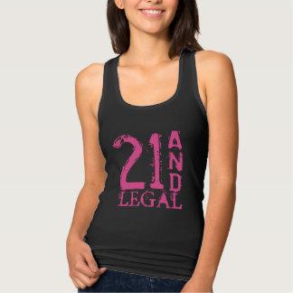 21ro Camisetas sin mangas del cumpleaños para el