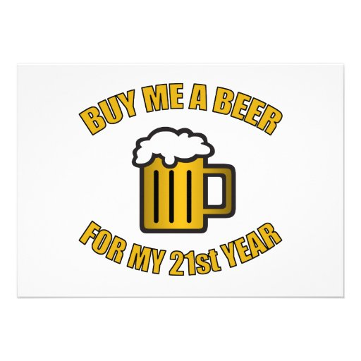 21ro Cerveza divertida del cumpleaños Anuncio