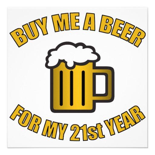 21ro Cerveza divertida del cumpleaños Comunicados Personales