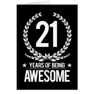 21ro Cumpleaños (21 años de ser impresionantes) Tarjeta De Felicitación