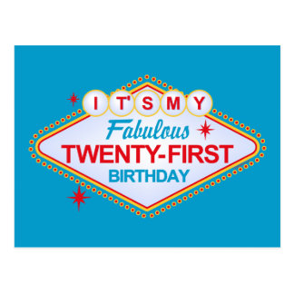 21ro cumpleaños de Las Vegas Tarjetas Postales