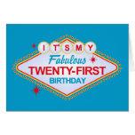 21ro cumpleaños de Las Vegas Tarjeton