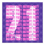 21ro cumpleaños del Grunge púrpura y rosado para Invitación 13,3 Cm X 13,3cm