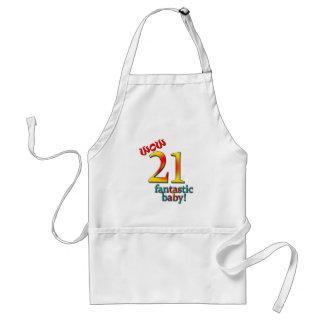 21ro Cumpleaños Delantal