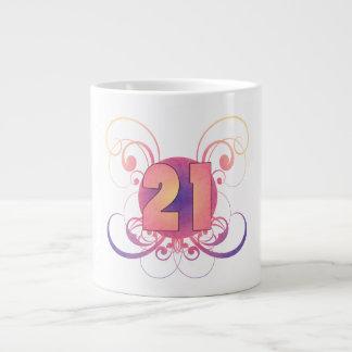 21ro Cumpleaños (en colores pastel) Taza Grande