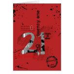 21ro cumpleaños felicitacion
