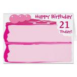 21ro cumpleaños feliz felicitación