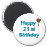 21ro cumpleaños feliz iman de nevera