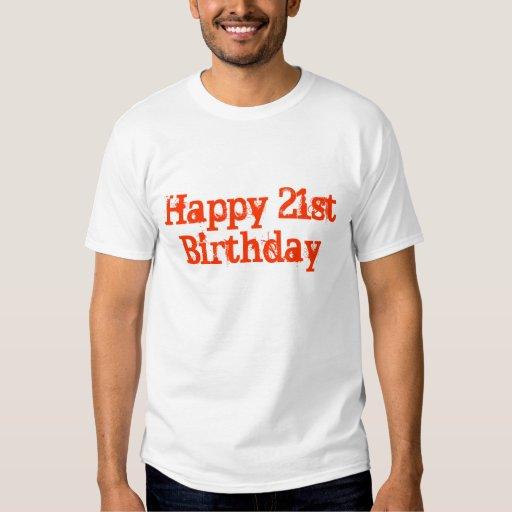 21ro cumpleaños feliz poleras