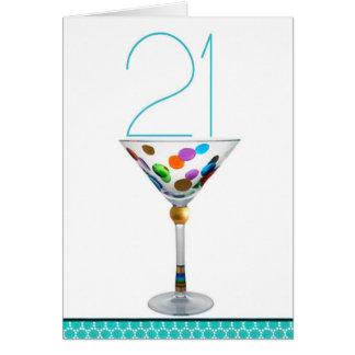 21ro cumpleaños feliz tarjeta de felicitación