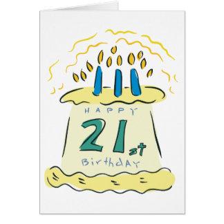 ¡21ro cumpleaños feliz! tarjeta de felicitación