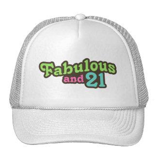 21ro Cumpleaños Gorros Bordados