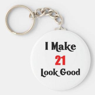 21ro Cumpleaños Llaveros Personalizados