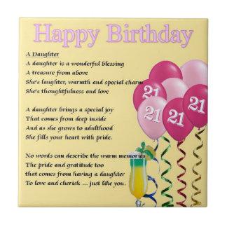 21ro cumpleaños - teja del poema de la hija
