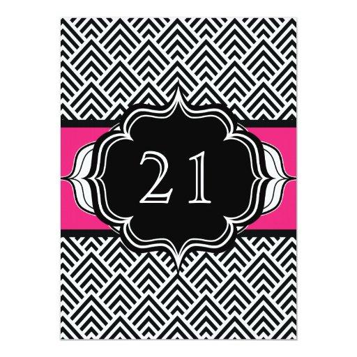 """21ro cumpleaños ultra elegante o Bachelorette Invitación 5.5"""" X 7.5"""""""