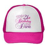21ro Diva del cumpleaños Gorras