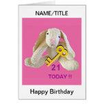 21ro El conejo de la tarjeta de cumpleaños persona