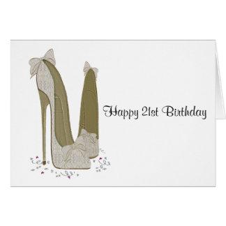21ro El estilete del cumpleaños calza la tarjeta