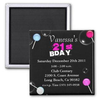 21ro El imán del cumpleaños invita