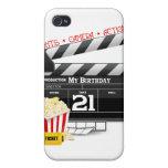 21ro Fiesta de la película del cumpleaños iPhone 4/4S Carcasa
